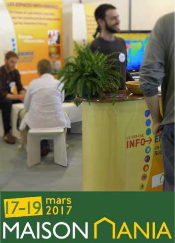 Stand Info Energie Salon Maison Mania du 17 au 19 Mars 2017