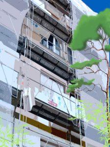 Illustration atelier copropriété isolation par l'extérieur